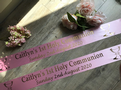 First Holy Communion Banner - Pink & Gold